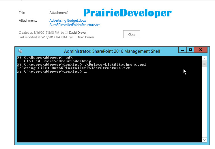 How to Delete a SharePoint List Item Attachment with PowerShell
