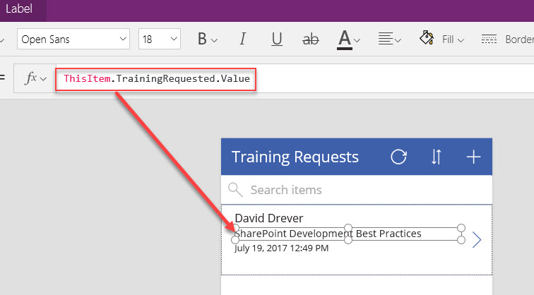 Using SharePoint Lookup Type Fields in PowerApp Browse Screens