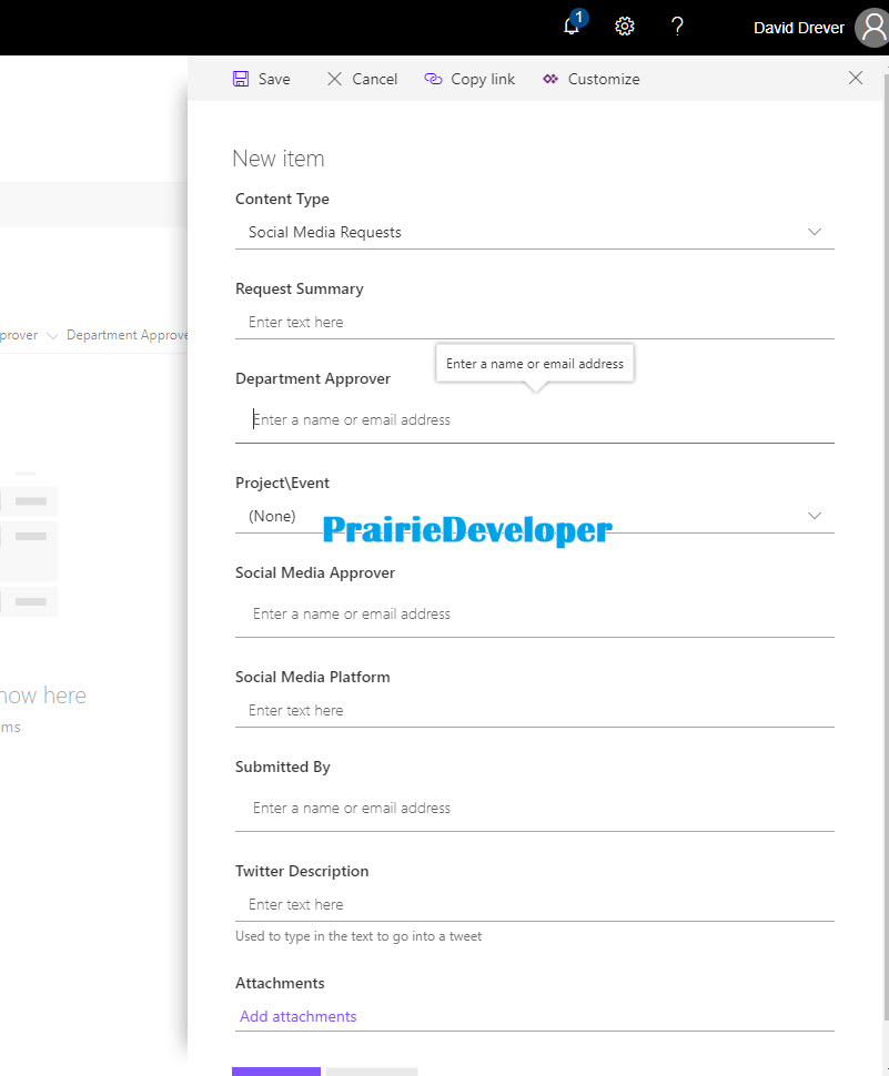 Integrating PowerApps as a Custom List Form in SharePoint