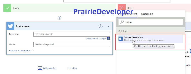 Sending a Tweet from Microsoft Flow